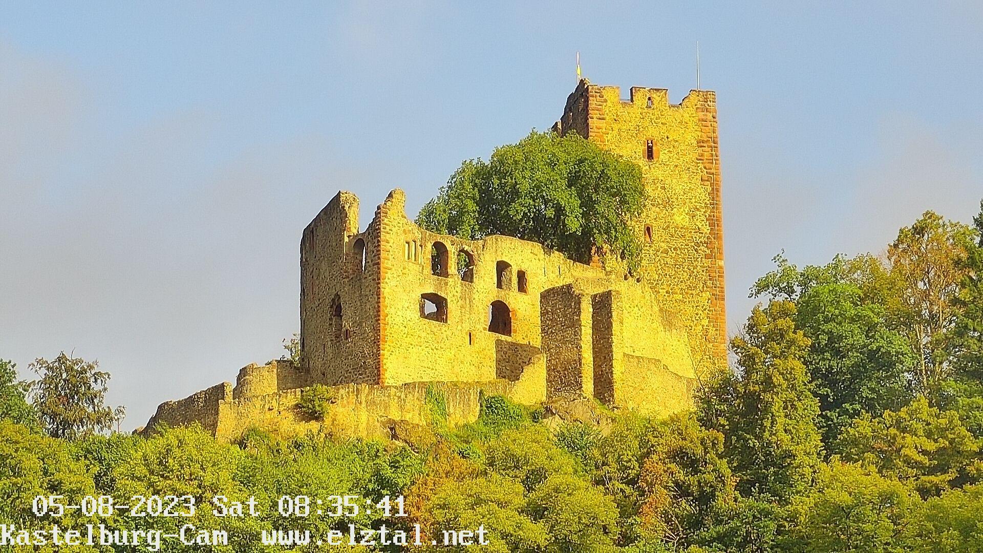 Kastelburg WebCam1 Blick zur Kastelburg